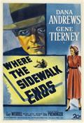 Where the Sidewalk Ends (1950) 1080P Poster
