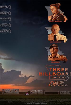 Three Billboards Outside Ebbing, Missouri (2017) 1080p Poster