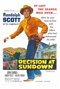 Decision at Sundown (1957) Poster