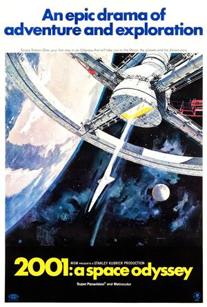 2001: A Space Odyssey (1968) 1080p Poster