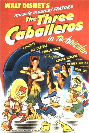 The Three Caballeros (1944) 1080p Poster