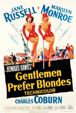 Gentlemen Prefer Blondes (1953) 1080p Poster