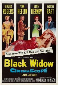 Black Widow (1954) poster