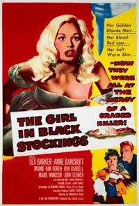 The Girl in Black Stockings (1957) 1080p Poster