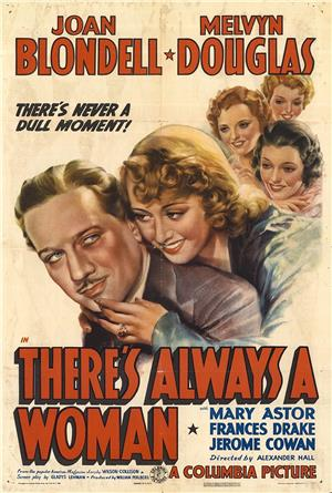 There's Always A Woman (1938) 1080p Poster