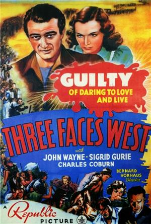 Three Faces West (1940) Poster