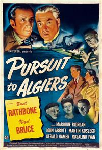 Pursuit to Algiers (1945) Poster