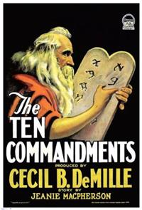 The Ten Commandments (1923) 1080p Poster