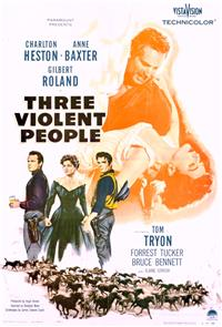 Three Violent People (1956) 1080p Poster