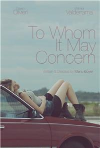 To Whom It May Concern (2015) 1080p poster