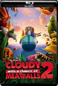 Cloudy with a Chance of Meatballs 2 (2013) 1080p Poster
