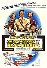 Davy Crockett and the River Pirates (1956) bluray Poster