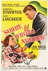 Sorry, Wrong Number (1948) bluray Poster