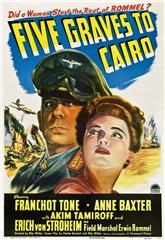 Five Graves to Cairo (1943) bluray Poster