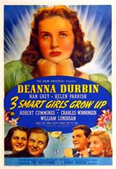 Three Smart Girls Grow Up (1939) Poster