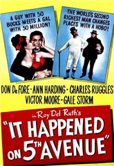 It Happened on Fifth Avenue (1947) Poster
