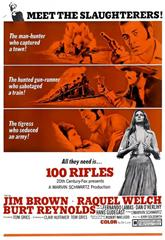 100 Rifles (1969) bluray Poster