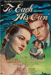 To Each His Own (1946) Poster